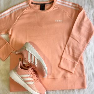 Adidas Fleece Sweatshirt Women's Logo Pullover